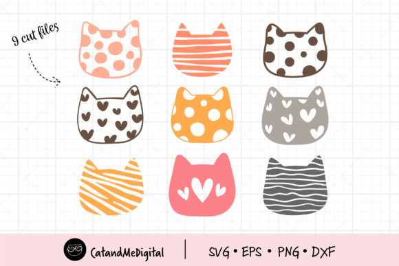 Pastel Cat Graphic Illustrations By CatAndMe