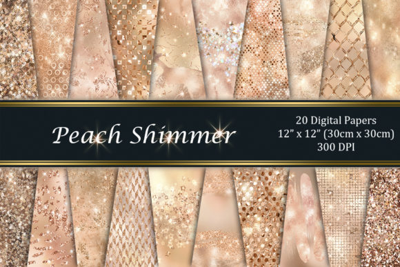Peach Shimmer Graphic Textures By Tara Artisan
