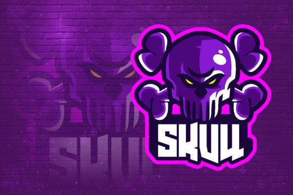 Skull E-Sport Logo Graphic Graphic Logos By remarena