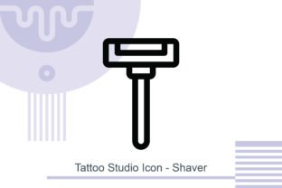 Tattoo Studio Icon - Shaver Graphic Icons By MelindAgency