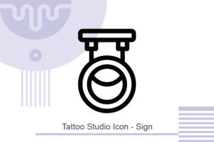 Tattoo Studio Icon - Sign Graphic Icons By MelindAgency