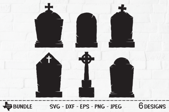 Print on Demand: Tombstone Bundle - Halloween Graveyard Graphic Crafts By texassoutherncuts