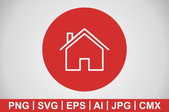 Print on Demand: Vector House Icon Graphic Icons By IYIKON