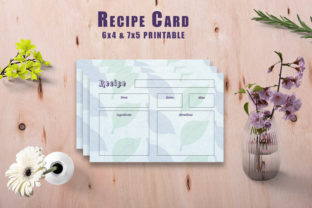 Print on Demand: Watercolor Recipe Card Printable V35 Graphic Print Templates By Creative Tacos