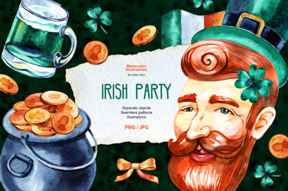 Watercolor St Patricks Clipart Graphic Illustrations By NataliMyaStore