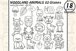 Woodland Animals Graphic Illustrations By clipartfables