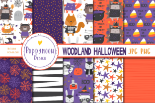 Print on Demand: Woodland Halloween Paper Graphic Patterns By poppymoondesign