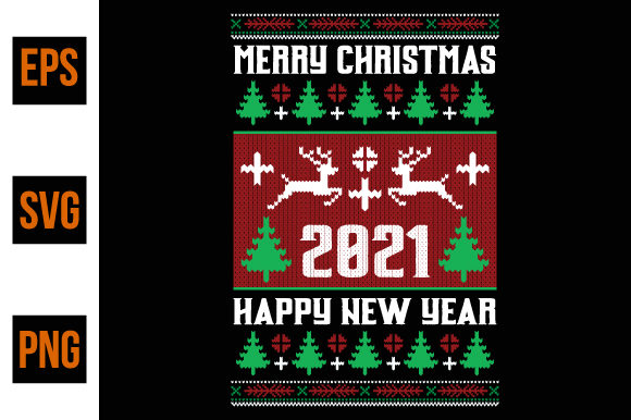 Print on Demand: Merry Christmas 2021 Graphic Print Templates By ajgortee