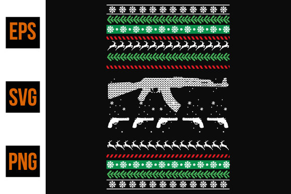 Print on Demand: Ugly Christmas Sweater Graphic Print Templates By ajgortee