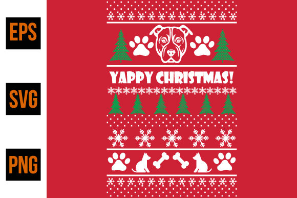 Print on Demand: Ugly Christmas Sweater Design- Vector Graphic Print Templates By ajgortee