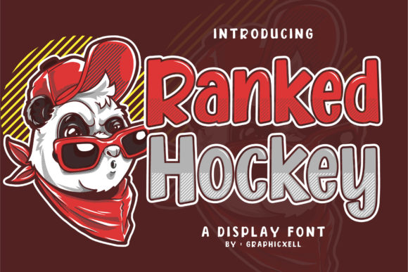 Print on Demand: Ranked Hockey Display Font By Graphicxell