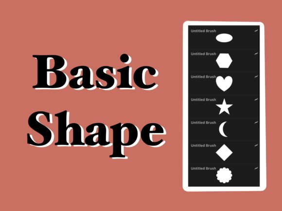 14 Basic Shapes Stamps for Procreate Graphic Brushes By secondjul