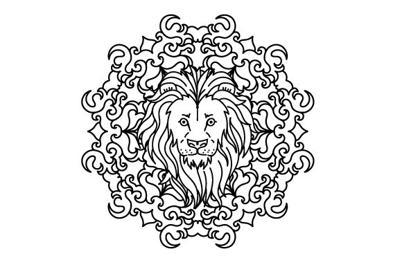 Lion Mandalas Plotterdatei von Creative Fabrica Crafts