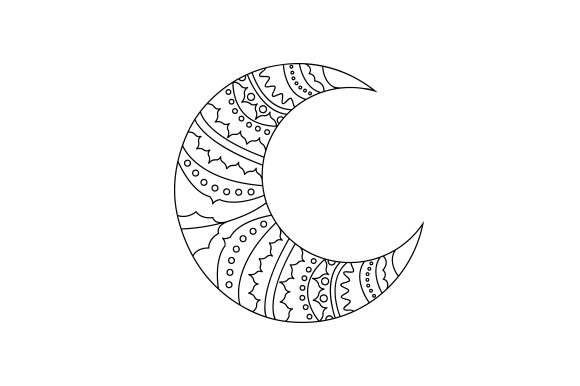 Crescent Moon Mandalas Craft Cut File By Creative Fabrica Crafts