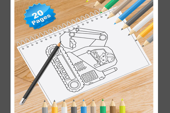 20 Construction Vehicle Coloring Pages Graphic Coloring Pages & Books By Coloring World