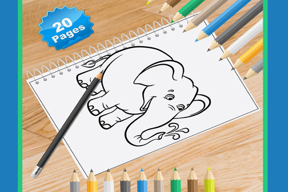 20 Elephent Coloring Pages for Kids Graphic Coloring Pages & Books By Coloring World