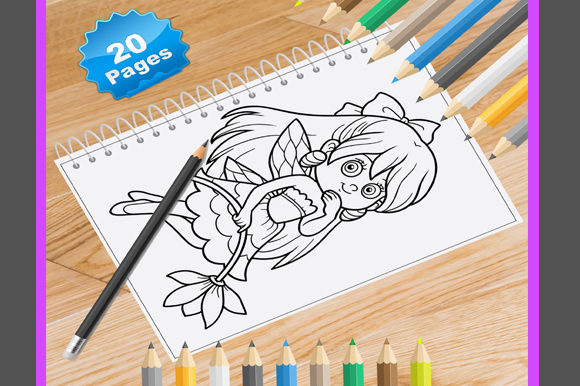 20 Fairy Coloring Pages Graphic Coloring Pages & Books By Coloring World