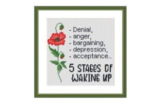 Print on Demand: 5 Stages Funny Quote Cross Stitch Graphic Cross Stitch Patterns By Tango Stitch