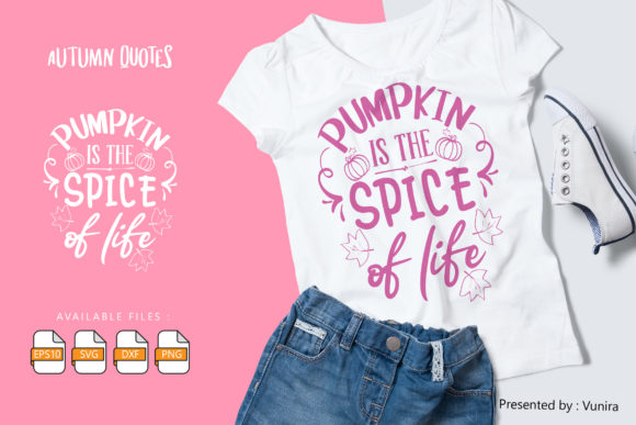 Print on Demand: Autumn | Lettering Quotes Graphic Crafts By Vunira