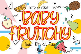 Print on Demand: Baby Fruitchy Display Font By boogaletter