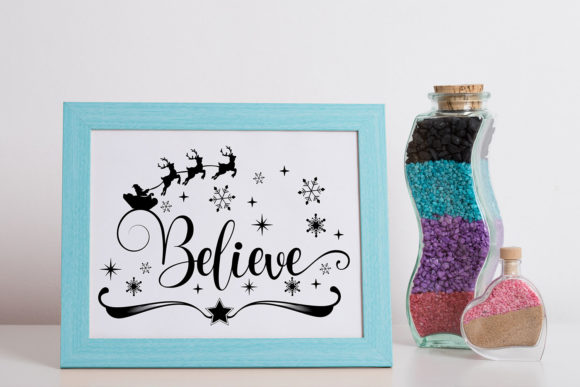 Believe in the Magic - Christmas SVG Graphic Design