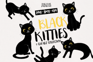 Print on Demand: Black Cats Graphic Illustrations By DigitalPapers
