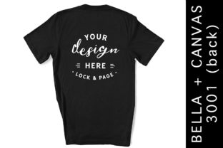 Black T-Shirt Back Bella Canvas 3001 Graphic Product Mockups By lockandpage