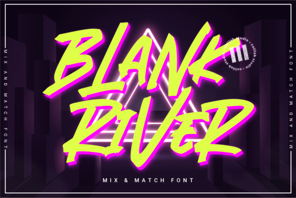Print on Demand: Blank River Display Font By colllabstudio