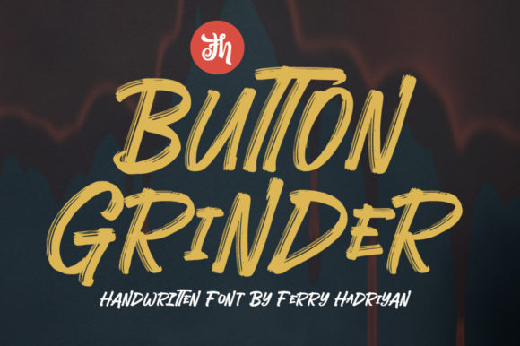 Print on Demand: Button Grinder Display Font By feydesign
