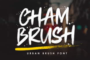 Print on Demand: Chambrush Display Font By Girinesia