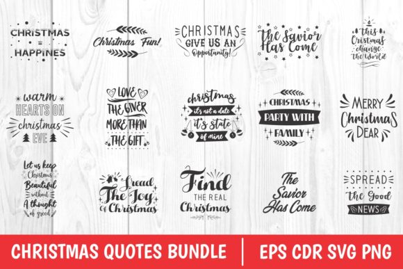 Christmas Quotes Bundle Graphic Preview