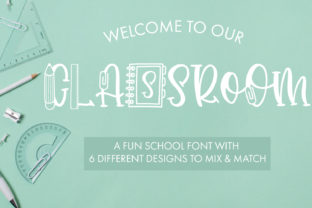Print on Demand: Classroom Decorative Font By freelingdesignhouse