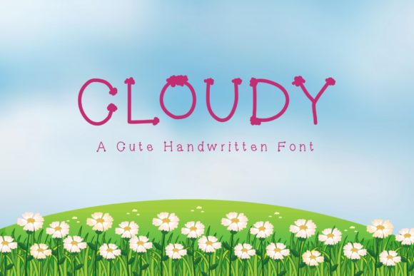 Print on Demand: Cloudy Script & Handwritten Font By KateType