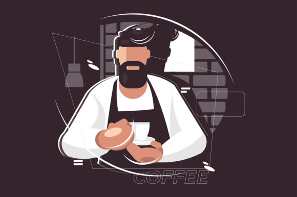 Coffee Break Concept Graphic Illustrations By Aghiez
