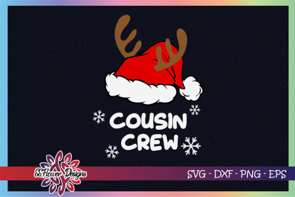 Cousin Crew Reinder Christmas Hat Graphic Crafts By ssflower