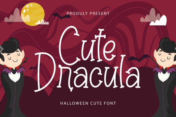 Print on Demand: Cute Dracula Display Font By Typefar