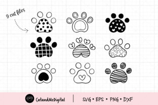Cute Pet Paw Graphic Illustrations By CatAndMe