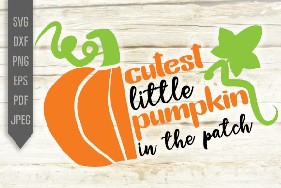 Cutest Little Pumpkin in the Patch Svg Graphic Crafts By Mint And Beer Creations