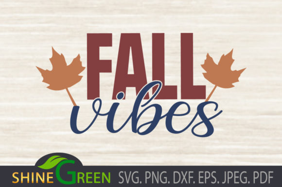 Print on Demand: Fall Vibes - Autumn Oak Leaves Graphic Crafts By ShineGreenArt