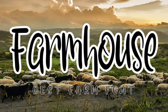 Print on Demand: Farmhouse Script & Handwritten Font By K_IN Studio