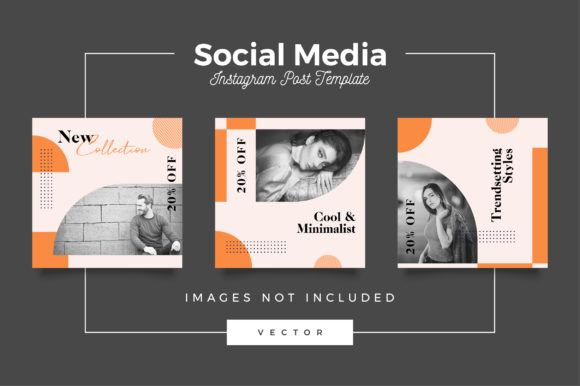Print on Demand: Fashion Instagram Post Template Graphic Web Templates By Novendi88