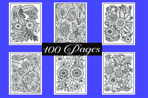 Print on Demand: Floral Mandalas Coloring Pages Graphic Coloring Pages & Books Adults By ajubayer555