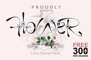 Print on Demand: Flower Display Font By Prast Art