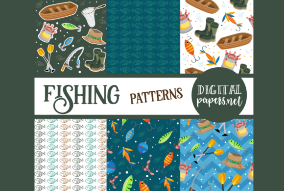 Print on Demand: Gone Fishing Patterns Graphic Illustrations By DigitalPapers