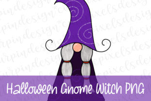 Print on Demand: Halloween Gnome Witch Graphic Illustrations By SusanTurpinDesign
