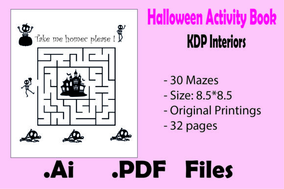 Halloween Mazes for Kids - Kdp Interiors Graphic KDP Interiors By KDP_Interior_101