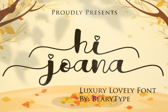 Print on Demand: Hi Joana Script & Handwritten Font By LetterBeary