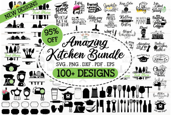 Huge Kitchen Quote Bundle Graphic Crafts By redearth and gumtrees