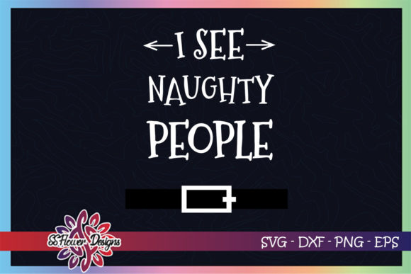 I See Naughty People Santa Bell Graphic Crafts By ssflower