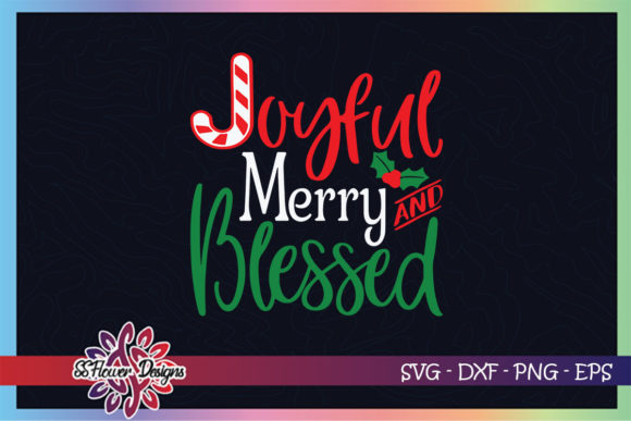 Joyful Merry and Blessed Christmas Candy Graphic Crafts By ssflower
